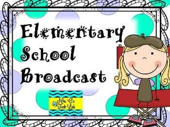 Elementary School News Student Broadcast