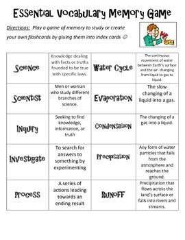 Elementary Science Vocabulary