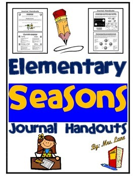 Elementary Seasons Journal Handouts
