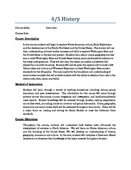 Elementary Social Studies Syllabi