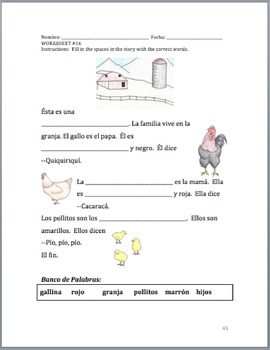 Elementary Spanish Unit (colors, numbers, family,  and animals)