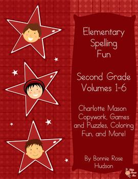 Elementary Spelling Fun: Second Grade, Volumes 1-6