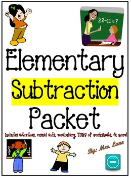 Elementary Subtraction Packet (SUPER JAM-PACKED!)