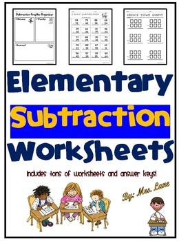 Elementary Subtraction Worksheets