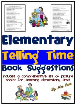 Elementary Telling Time Book Suggestions
