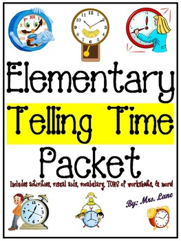 Elementary Telling Time Packet (SUPER JAM-PACKED!)