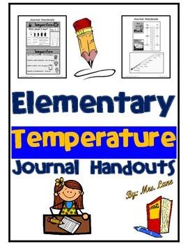 Elementary Temperature Journal Handouts