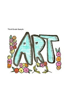 Elementary Visual Art Project - Bubble ART