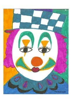 Elementary Visual Art Project - Clown