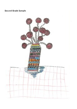 Elementary Visual Art Project - Flowers in a Vase