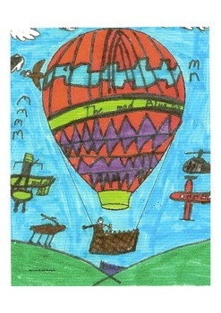 Elementary Visual Art Project - Hot Air Balloons