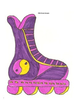 Elementary Visual Art Project - In-Line Skate