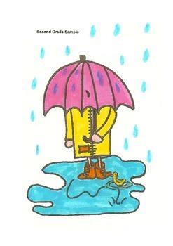 Elementary Visual Art Project - Umbrella Person