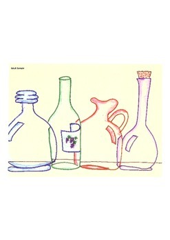 Elementary Visual Art Project - Vases and Bottles