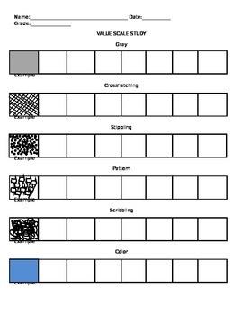 Visual Arts: Value Scale Study Exercise (DOC) (Elementary