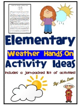 Elementary Weather Hands-On Activity Ideas