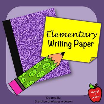 Elementary Writing Sample Paper