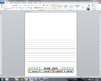 Elementary Writing paper with editing visuals