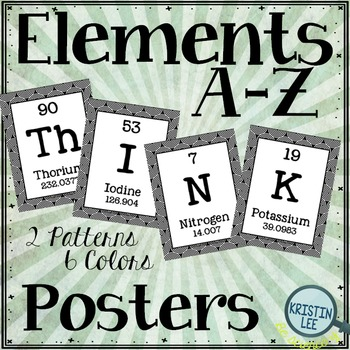 """Elements A-Z Posters - """"Think"""""""