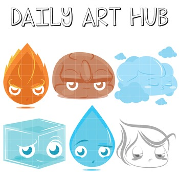 Elements Clip Art - Great for Art Class Projects!