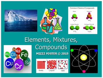 Elements, Compounds, Mixtures, Solutions Power Point