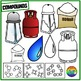 Elements, Compounds and Mixtures Clipart- Atomic Diagrams