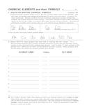 Elements & Symbols Practice