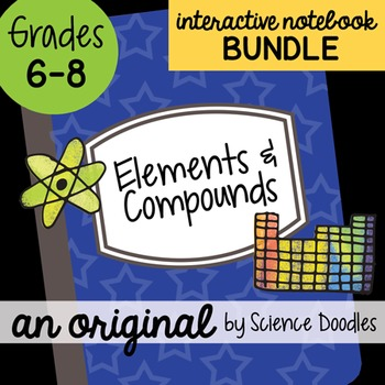Elements and Compounds Interactive Notebook BUNDLE by Scie