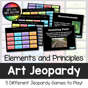 Elements and Principles Art Vocabulary Scavenger Hunt and