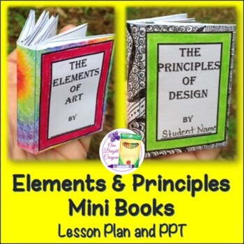 Art Lesson - Elements and Principles Fun Mini-Books with P