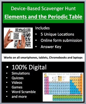 Elements and the Periodic Table - Device-Based Scavenger H