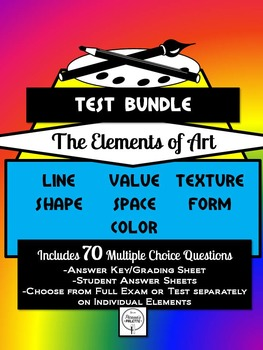 Elements of Art Assessment/Test/Exam Bundle