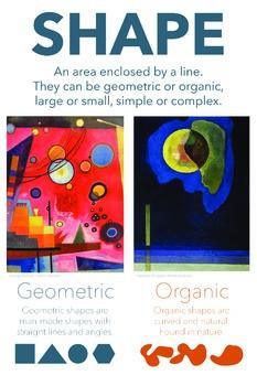 Elements of Art Classroom Poster: Shape