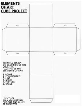 Elements of Art - Cube Project Worksheet