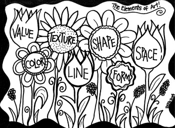 Elements of Art Garden Coloring Sheet