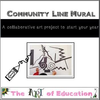 Elements of Art Line Mural