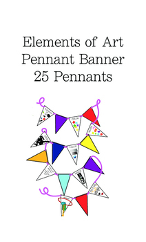 Elements of Art Pennant Banner