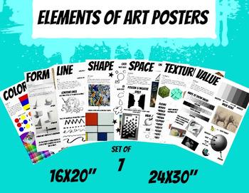 Elements of Art Posters Art Classroom Visuals Set of 7 Han