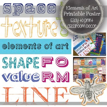 Elements of Art Printable Poster: Art Education Decoration