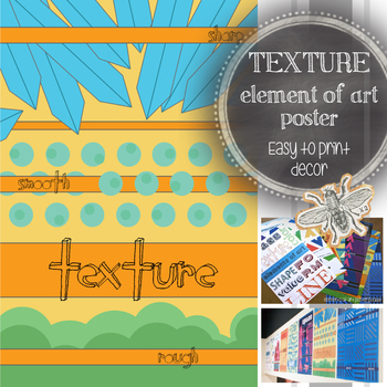 Elements of Art, Texture, Printable Poster: Art Classroom