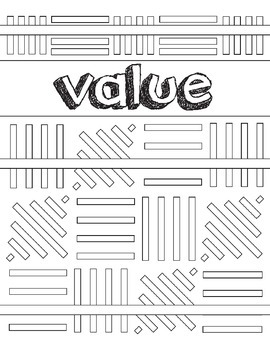 Elements of Art: Value Coloring Book Handout, Art Review