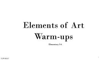 Elements of Art Warm Ups 3-6