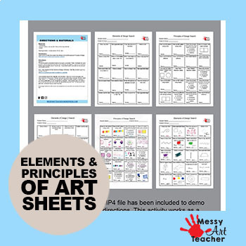 Elements of Art Worksheet Activity