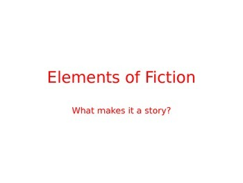 Elements of Fiction in Little Red Riding Hood