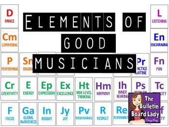 Elements of Good Musicians Music Bulletin Board
