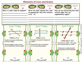 Elements of Lines and Angles