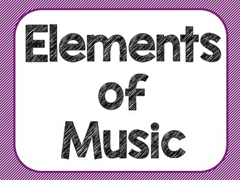 Elements of Music- Black & Multi-Colored