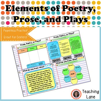 Elements of Poetry, Prose, and Plays Digital Resource