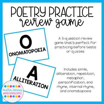 Elements of Poetry Review Game