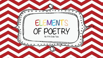 Elements of Poetry Unit